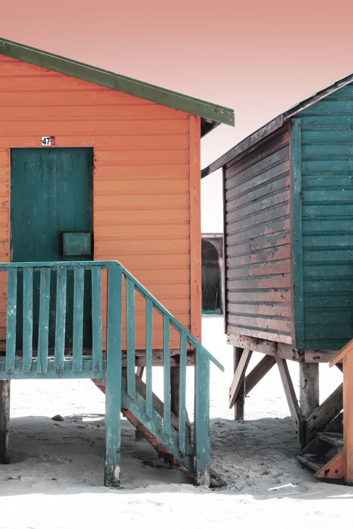 Arte Fotográfica Exclusiva Colorful Houses Forty Seven Brick & Greensea