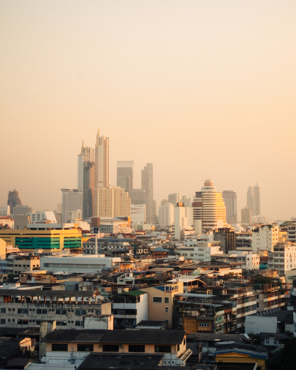 Arte Fotográfica Exclusiva Dusk in Bangkok