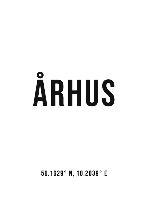 Arte Fotográfica Exclusiva Aarhus simple coordinates