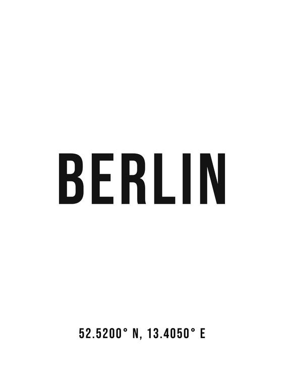 Arte Fotográfica Exclusiva Berlin simple coordinates