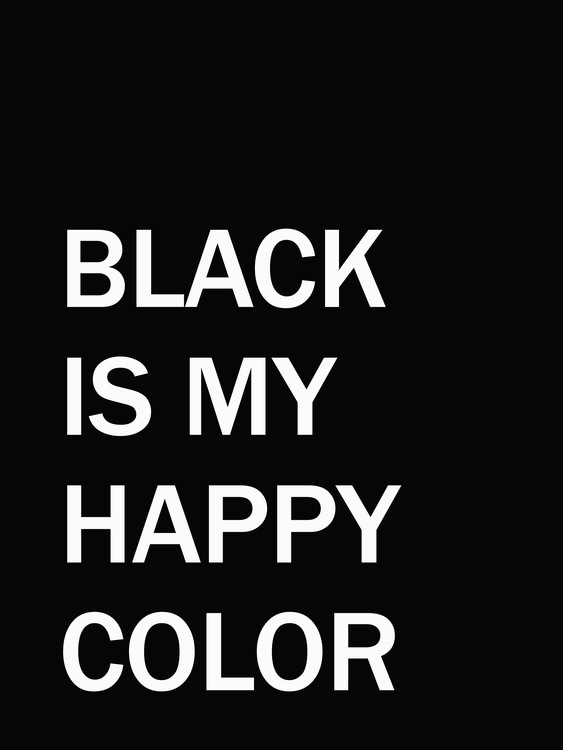 Arte Fotográfica Exclusiva blackismyhappycolour1