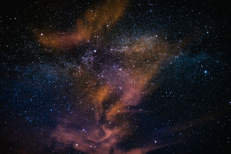 Arte Fotográfica Exclusiva Details of Milky Way of St-Maria multicolour graded with clouds