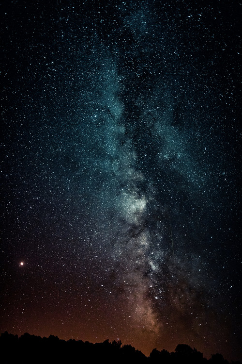 Arte Fotográfica Exclusiva Details of Milky Way of St-Maria with red-blue graded
