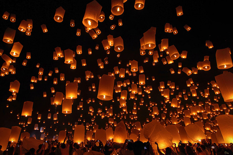 Arte Fotográfica Exclusiva Floating Lanterns
