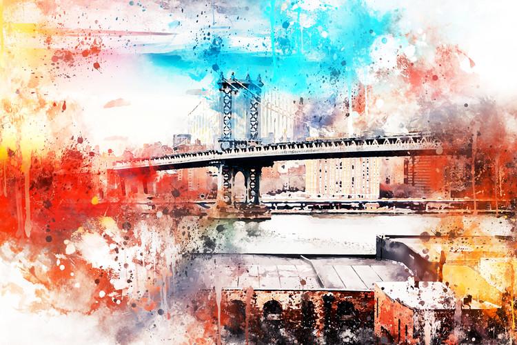 Arte Fotográfica Exclusiva NYC Watercolor 095