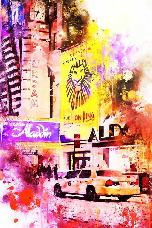 Arte Fotográfica Exclusiva NYC Watercolor 103