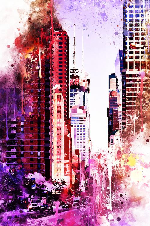 Arte Fotográfica Exclusiva NYC Watercolor 119