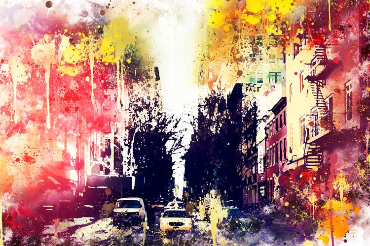 Arte Fotográfica Exclusiva NYC Watercolor 132