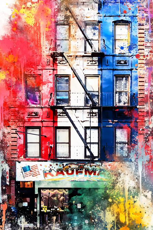 Arte Fotográfica Exclusiva NYC Watercolor 152