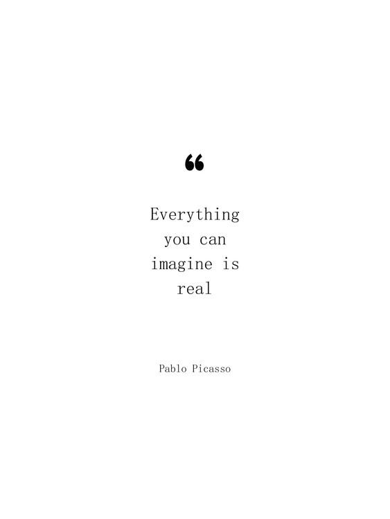 Arte Fotográfica Exclusiva Picasso quote