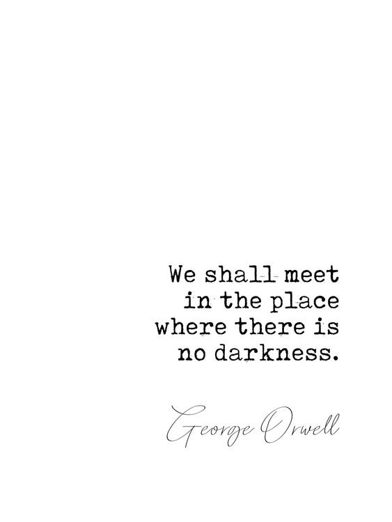 Arte Fotográfica Exclusiva Quote Orwell