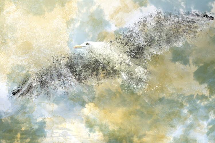 Arte Fotográfica Exclusiva Vanishing Seagull