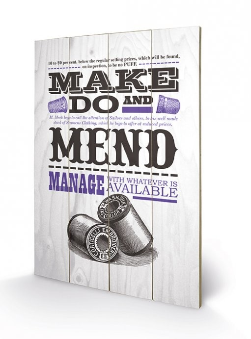 Asistended - Make Do And Mend Panneaux en Bois