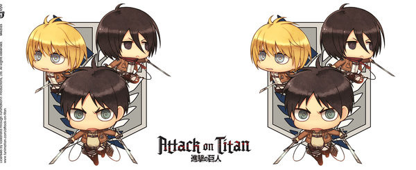 Mug Attack On Titan - Chibi Trio
