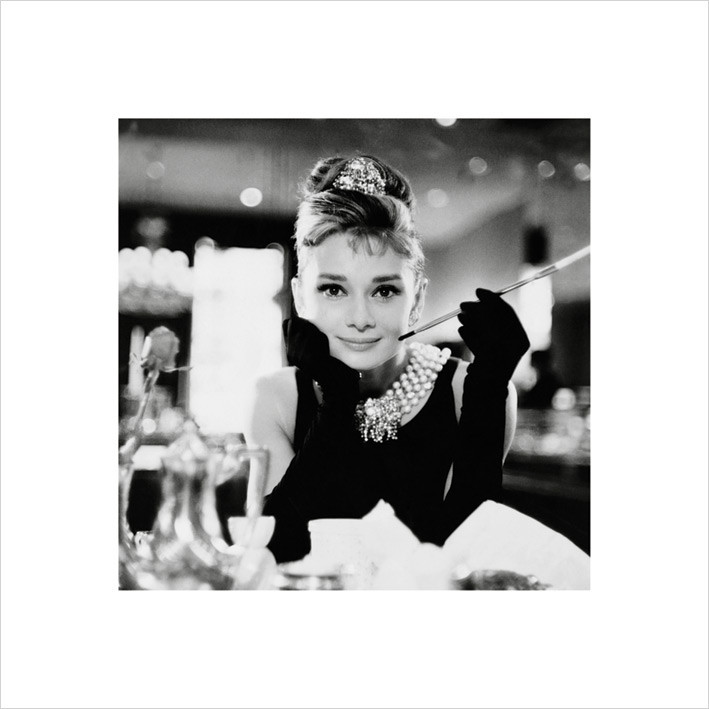 Audrey Hepburn - b&w Reproduction d'art