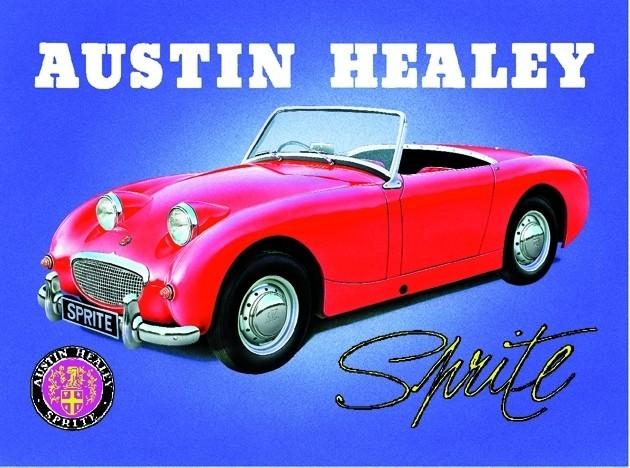 AUSTIN HEALEY SPRITE Plaque métal décorée