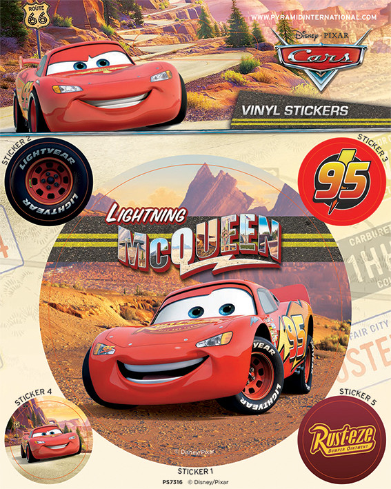 Autocolantes Cars - Lightning McQueen
