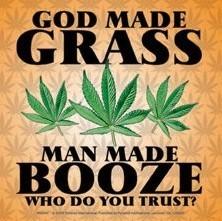 Autocolantes GOD MADE GRASS