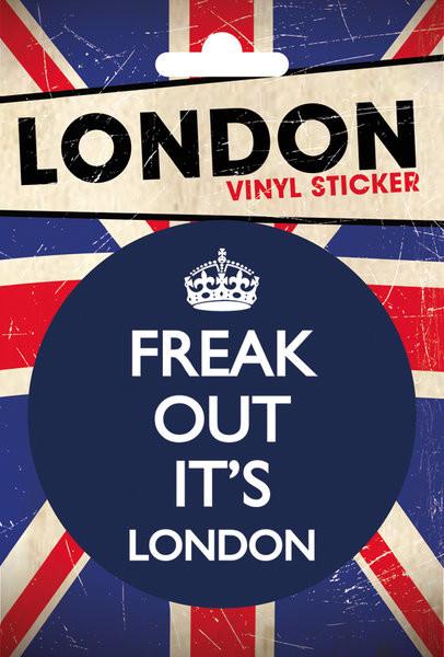 Autocolantes  LONDON - freak out