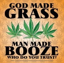 GOD MADE GRASS Autocollant