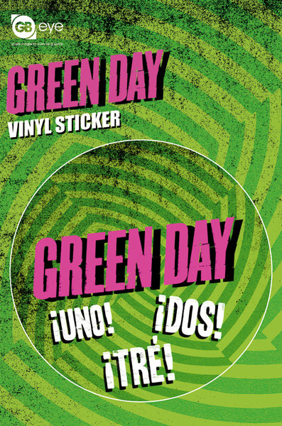 GREEN DAY - logo Autocollant