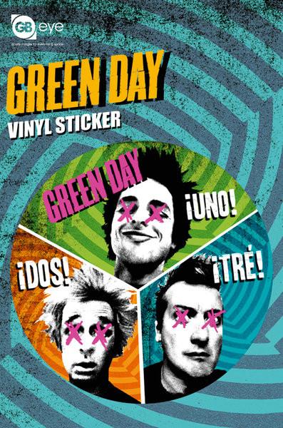 GREEN DAY - trio Autocollant