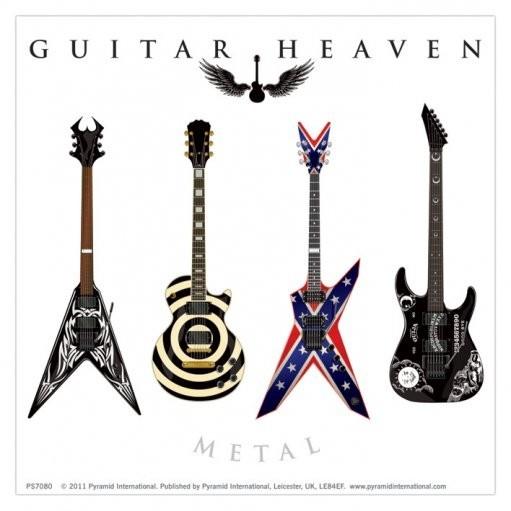 GUITAR HEAVEN - metal Autocollant