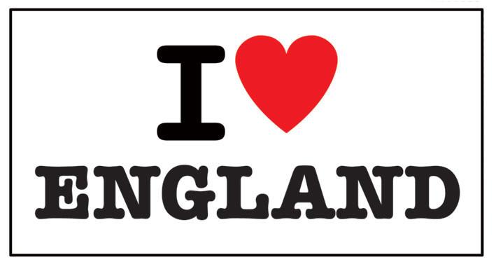 I LOVE ENGLAND Autocollant
