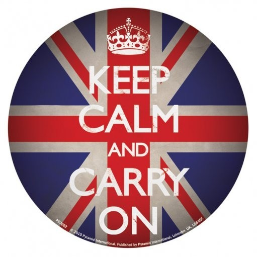 KEEP CALM AND CARRY ON - union jack Autocollant
