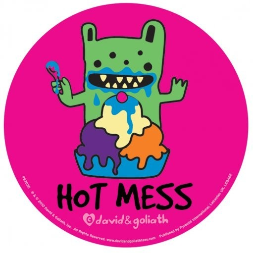 MONSTER MASH - hot mess Autocollant