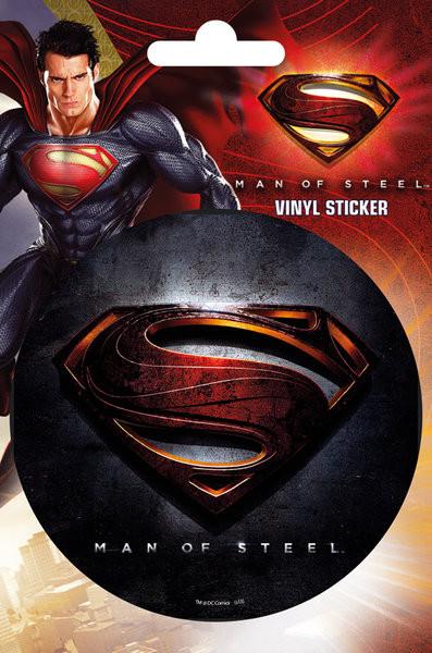 SUPERMAN MAN OF STEEL - logo Autocollant