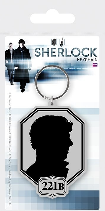 Uusi Sherlock - Silhouette Avaimenperä