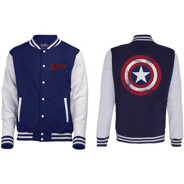 Jacket Avengers - Assemble Distressed Shield Varsity
