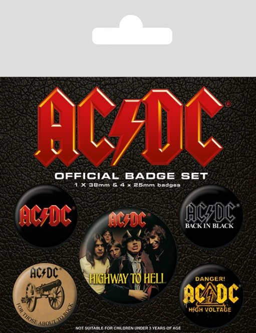 AC/DC - Logo Badge Pack