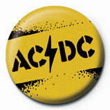 AC/DC - Yellow stencil Badge
