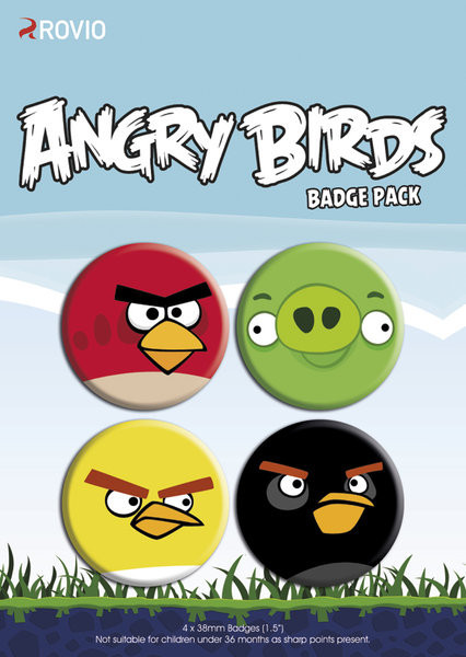 ANGRY BIRDS - faces Badge Pack