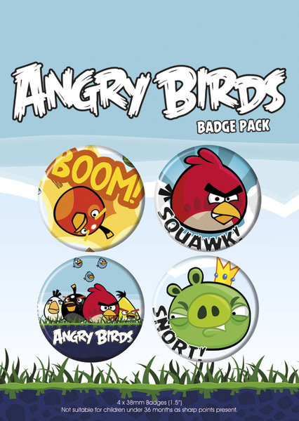 ANGRY BIRDS - pack 1 Badge Pack