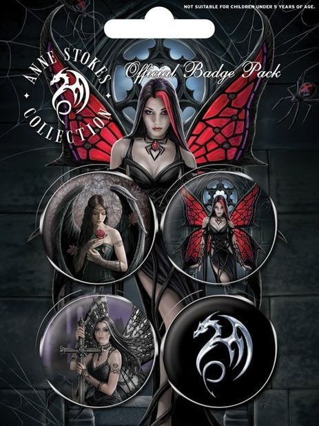 ANNE STOKES - gothic Badge Pack