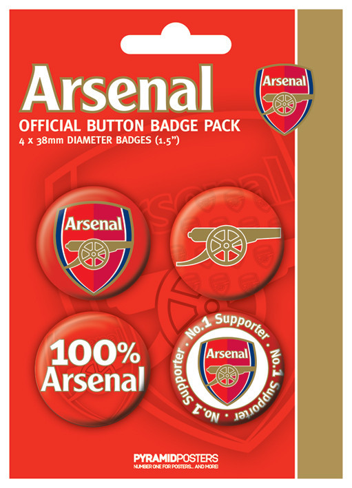 ARSENAL FC - number Badge Pack