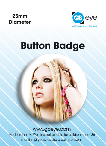 Avril Lavigne-Pink Badges