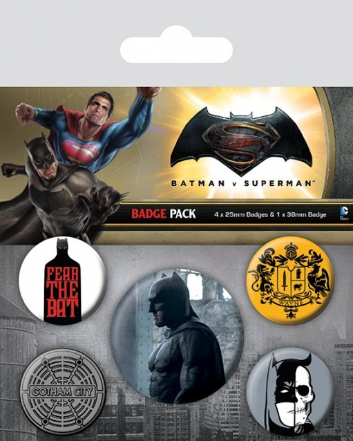 Batman v Superman: Dawn of Justice - Batman Badge Pack