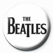 BEATLES (BLACK LOGO) Badge