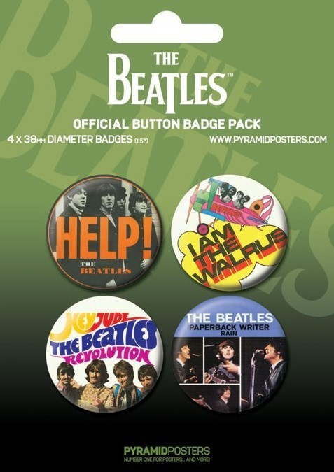 BEATLES - green Badge Pack