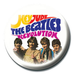 BEATLES - Hey Jude/Revolution Badges