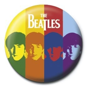 BEATLES - stripes Badge