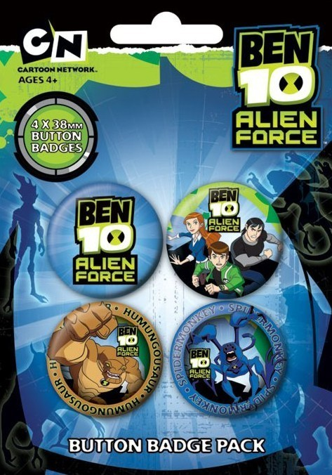 BEN 10 - alien force Badge Pack