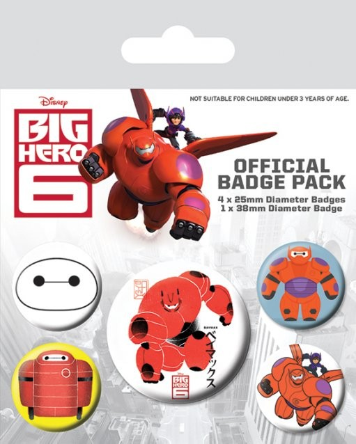 Big Hero 6 - Baymax Badge Pack