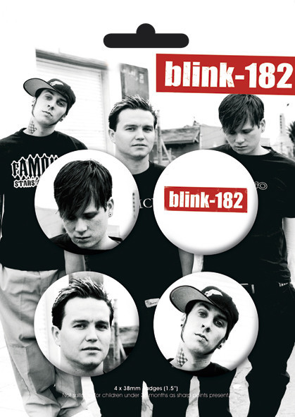 BLINK 182 - Band Badge Pack