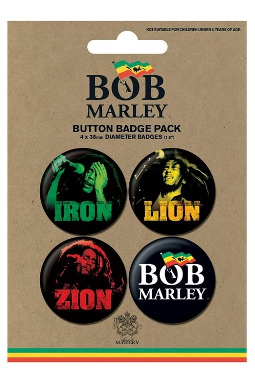 Badges BOB MARLEY - iron lion zion