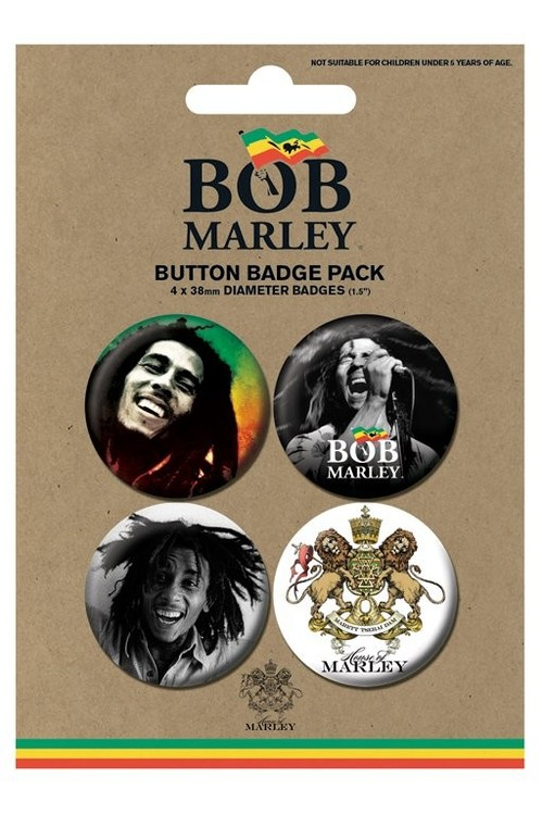 BOB MARLEY - photos Badge Pack